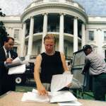 1. Laura prepping for a State Dinner early morning as seen in the First Ladys Book An Invitation to the White House