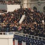24. Laura on the Inaugural Platform 15 rows back to the right in 1996