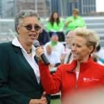 4 AHA HEART WALK IN GRANT PARK - Laura interviews Cook County President Preckwinkle
