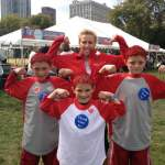 7 AHA HEART WALKS - Laura emcees and takes a moment to hang out with survivors