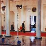9. THE PRESIDENT WALKING BACK TO THE BLUE ROOM TO MEET LAURA FOLLOWING A NATIONAL PRESS CONFERENCE