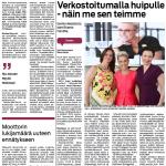 Rasteri corporate newspaper for Finnish paper Keskisuomalainen