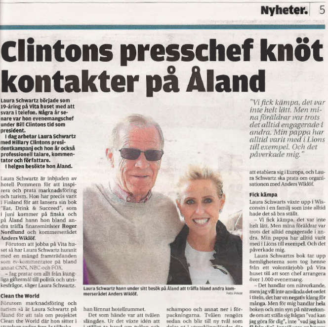 Aland Islands News Anders Wiklof Laura Schwartz