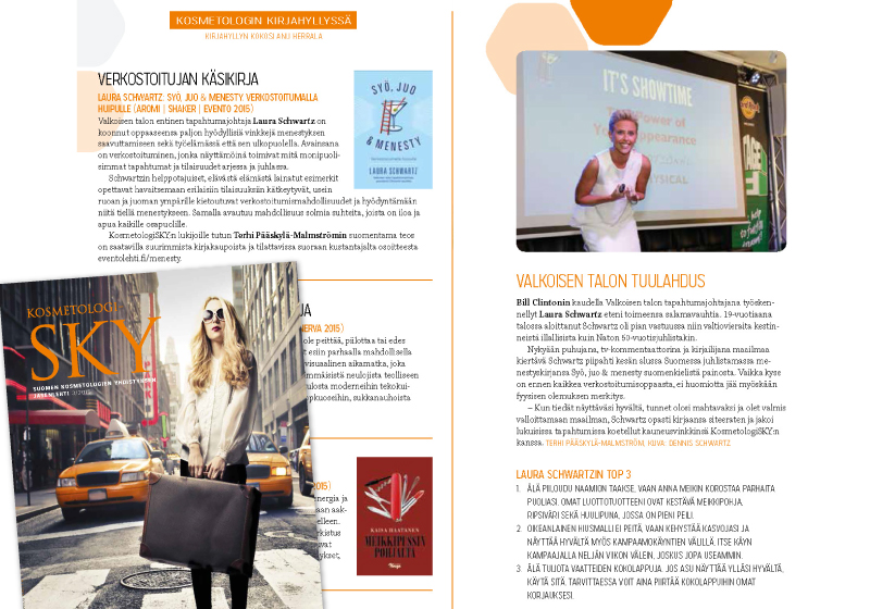 Kosmetologisky Finland Magazine Emcee Events Tour