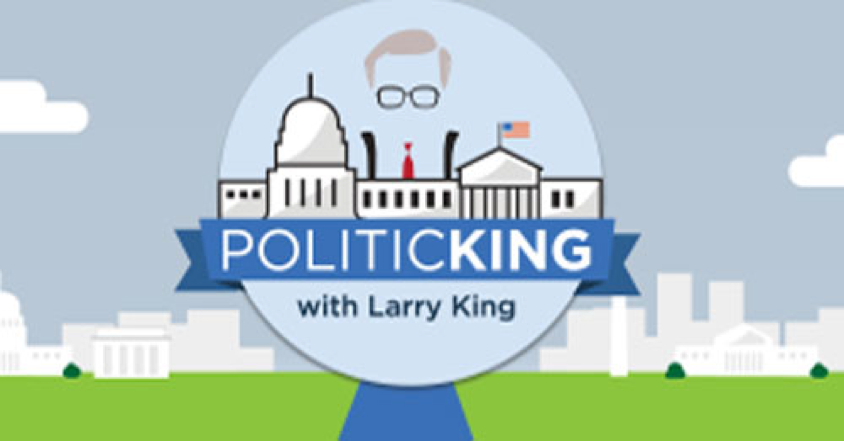 Politicking Political Commentator Laura Schwartz Larry King