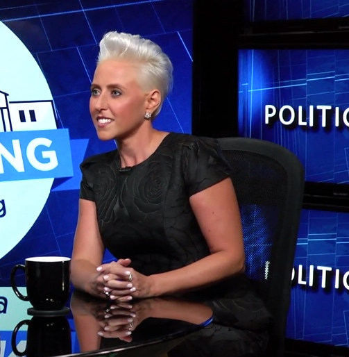 Television Personality Laura Schwartz covers the US presidential election.