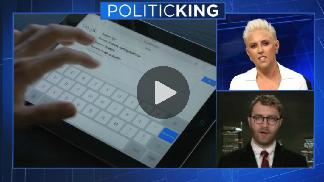 "Television commentator Laura Schwartz leads discussion of the Trump Administration and internet privacy laws on Emmy Award winning ""PoliticKING."""